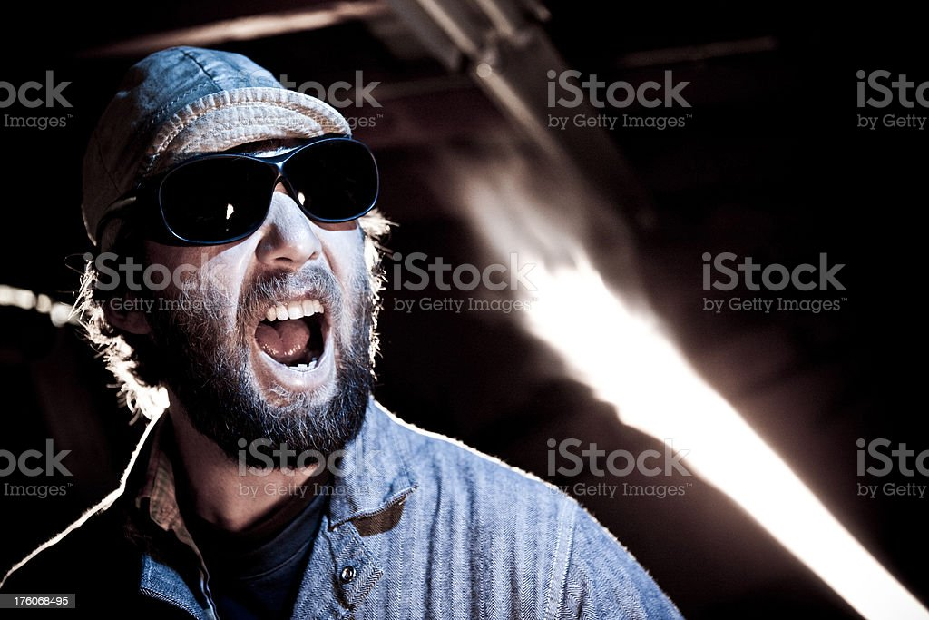 Metal worker portrait royalty-free stock photo