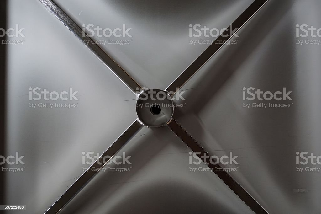 metal X shape stock photo
