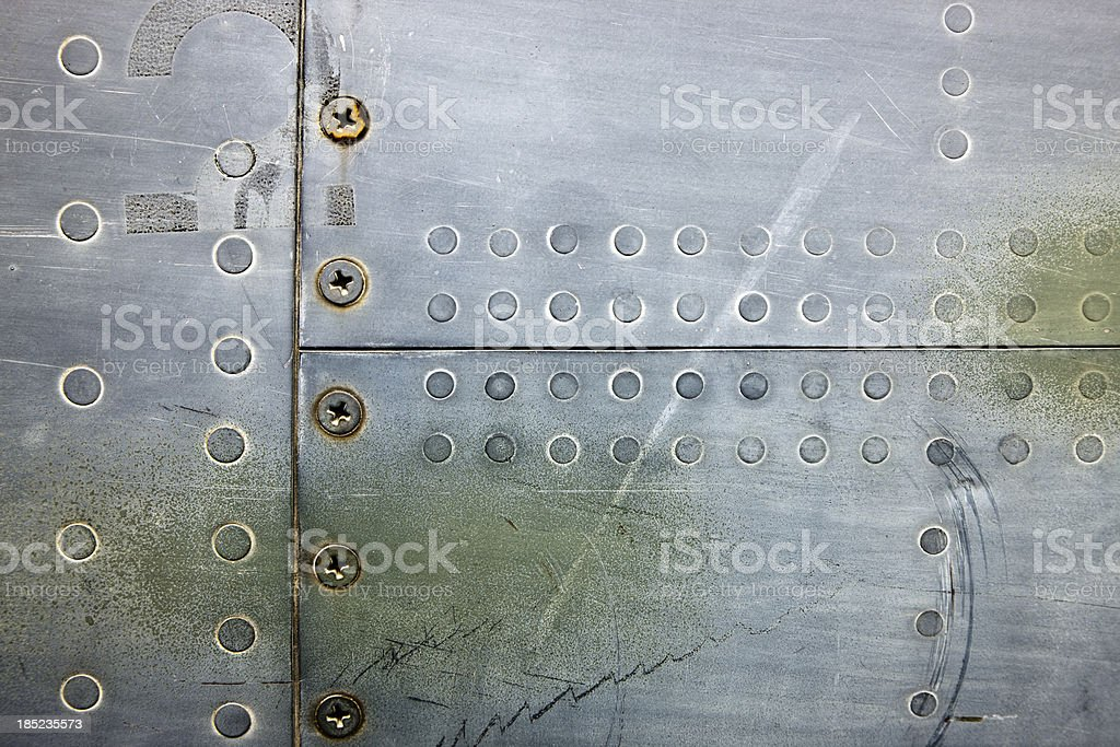 Metal XXXL Background With Rivets and Screws stock photo