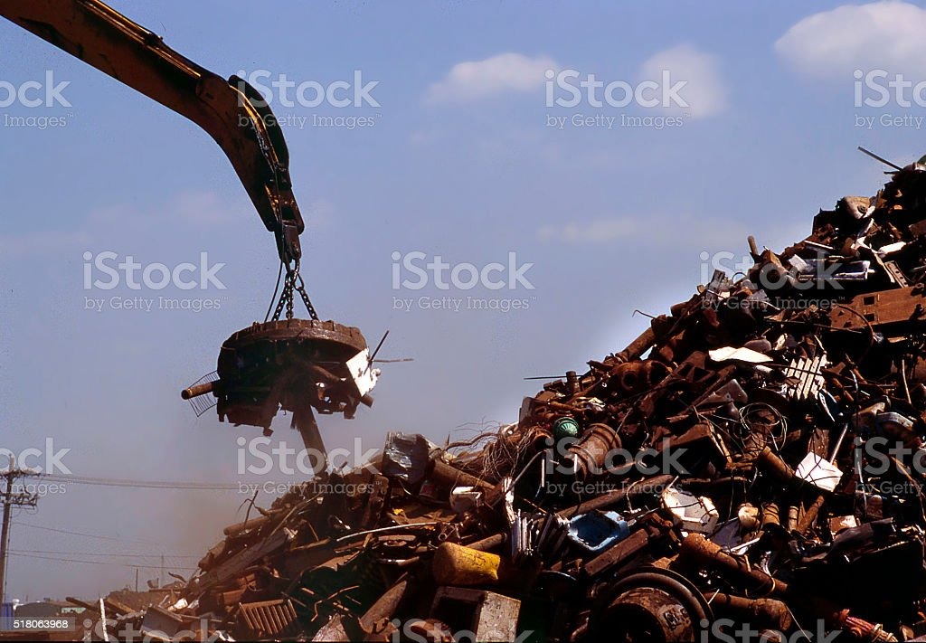 metal yard magnet stock photo