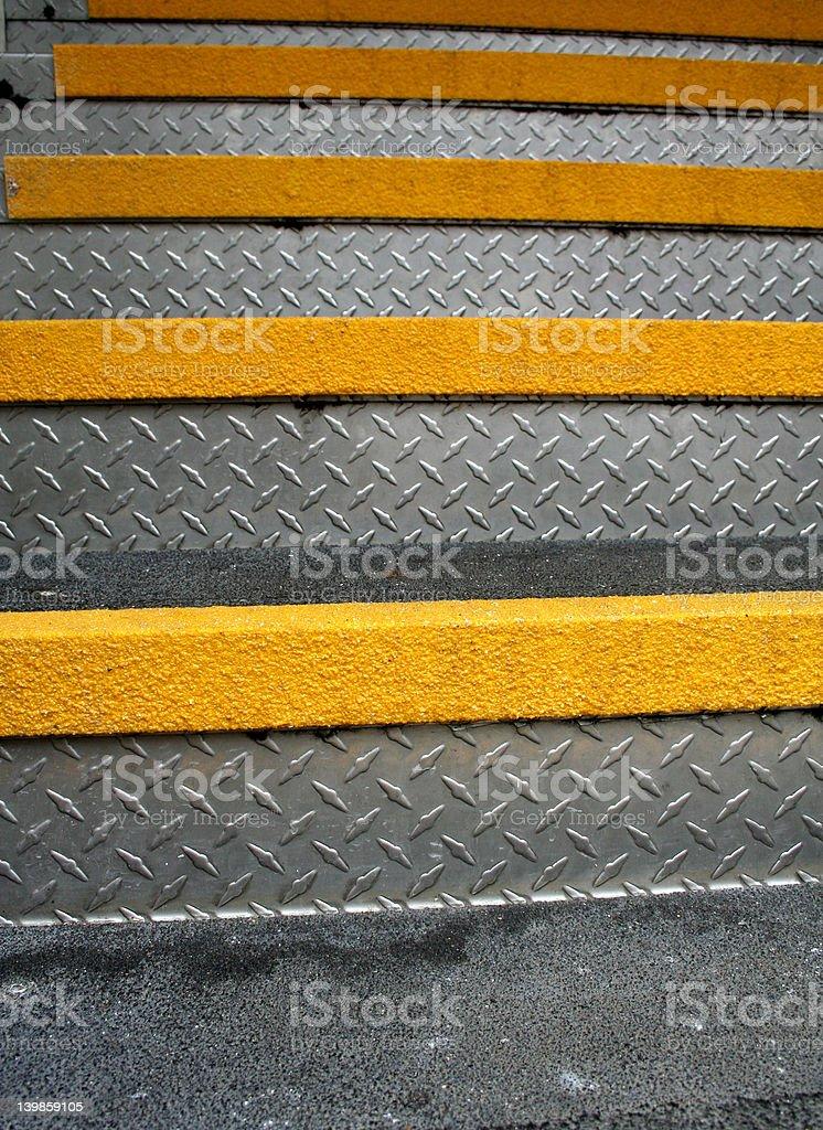 metal yellow steps royalty-free stock photo