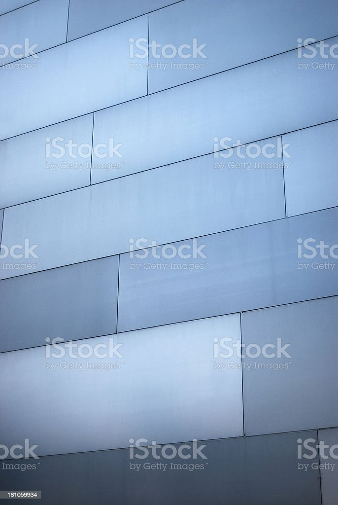 Metal-clad wall royalty-free stock photo
