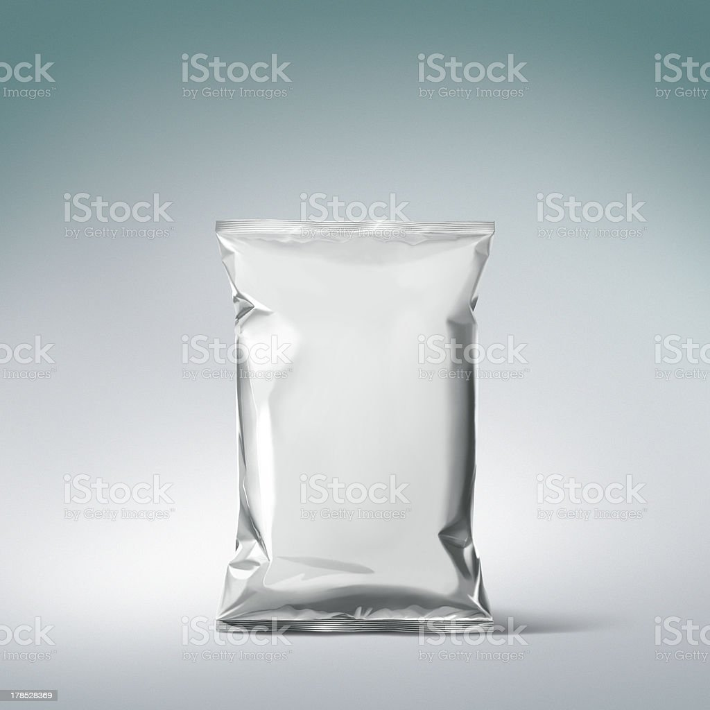 metalic bag stock photo