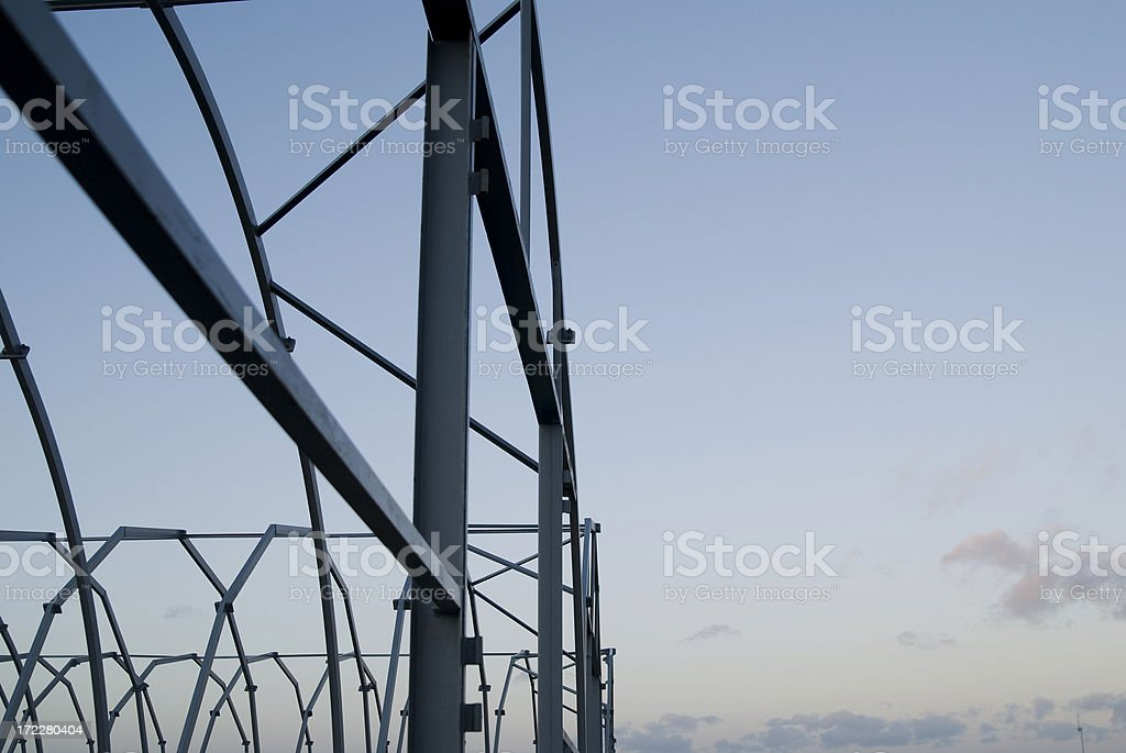 Metall Construction With A Sky-Blue Background stock photo