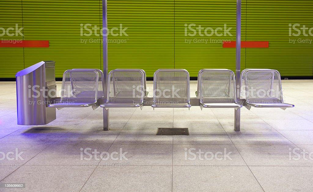 metall seats stock photo