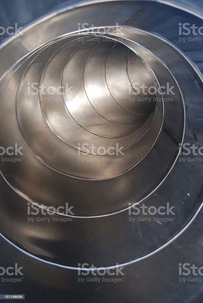 metall tube vertical curve stock photo