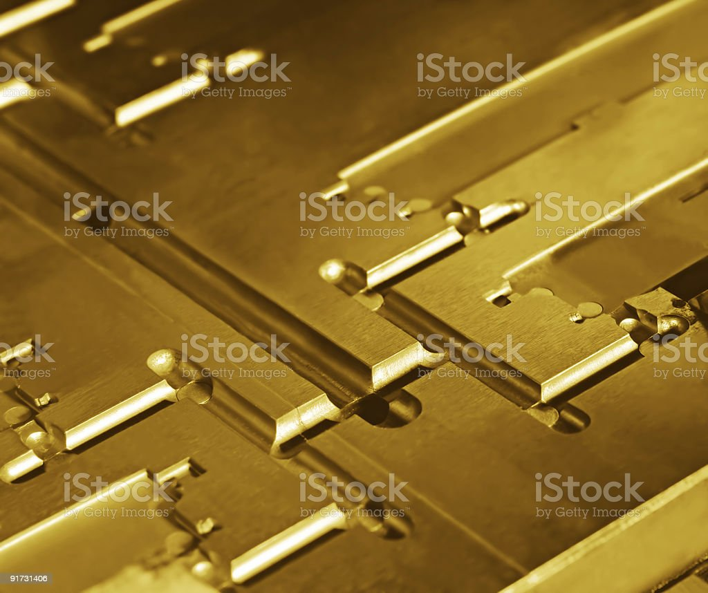 Metallic Abstract in Gold royalty-free stock photo