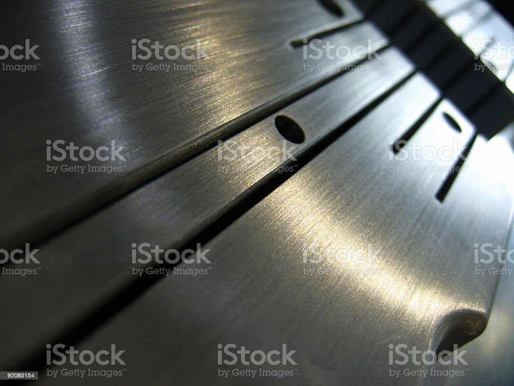 Metallic abstract with black lines stock photo