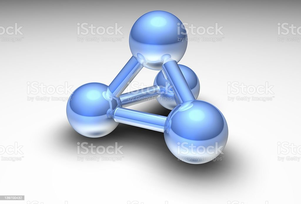 Metallic atom royalty-free stock photo