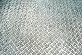 Metallic background with texture detail of a slip metal floor