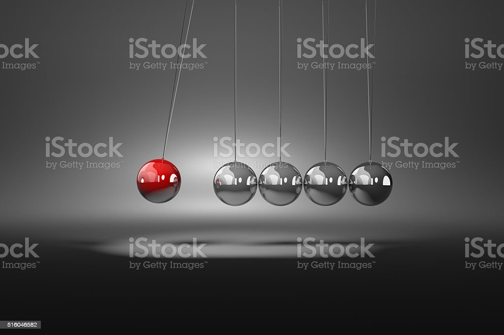Metallic Balls Mechanism stock photo