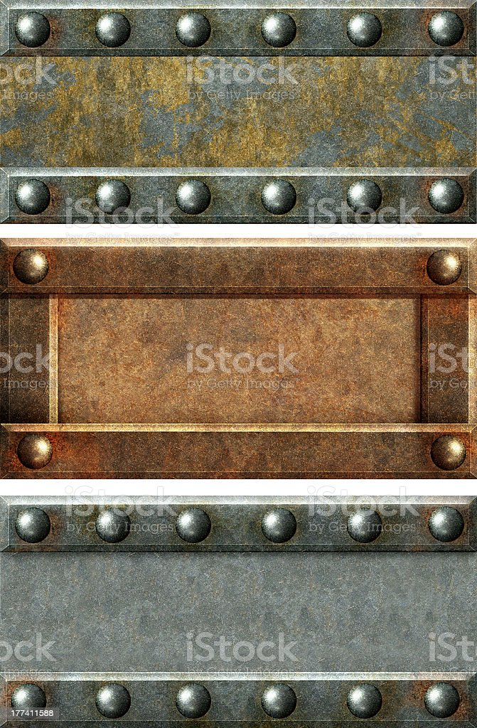 Metallic banners royalty-free stock photo