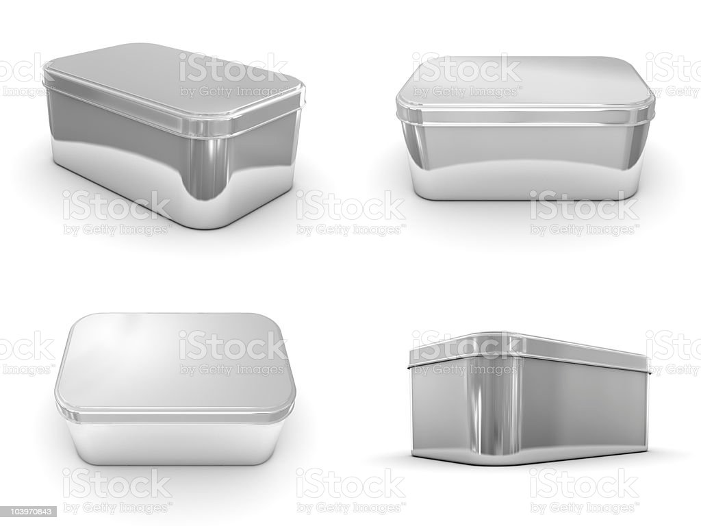 Metallic Boxes royalty-free stock photo