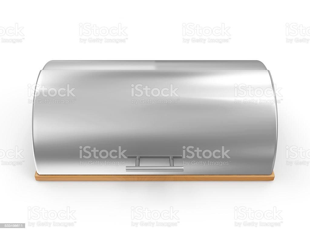 Metallic Breadbasket isolated on white background stock photo