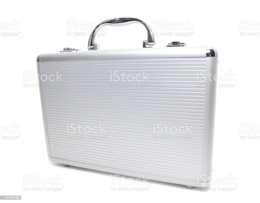 Metallic Briefcase royalty-free stock photo