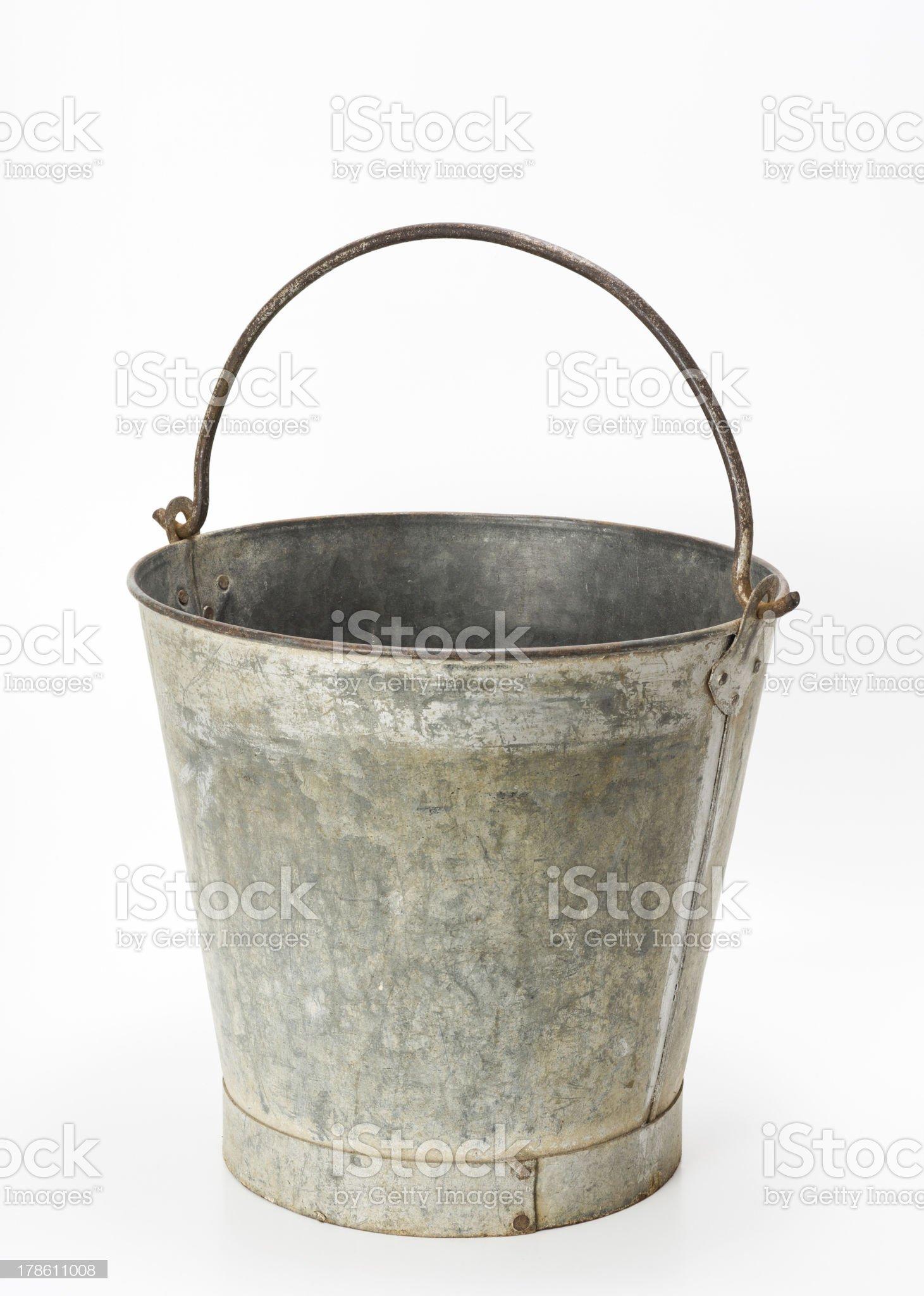 Metallic bucket royalty-free stock photo