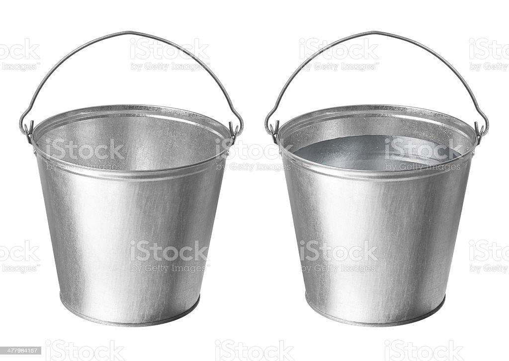 Metallic buckets royalty-free stock photo