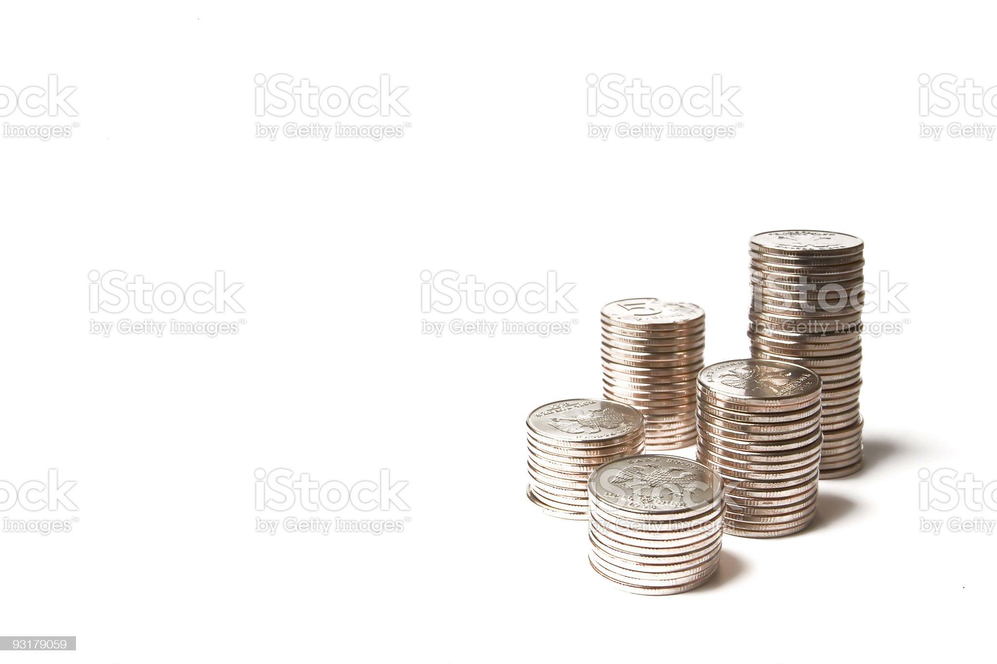metallic coins royalty-free stock photo