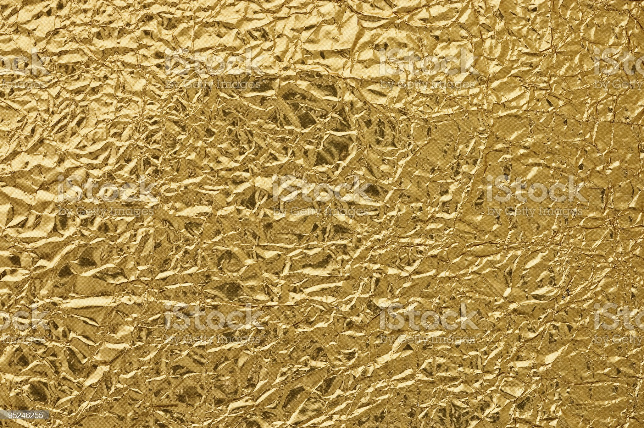 Metallic crumpled paper. royalty-free stock photo