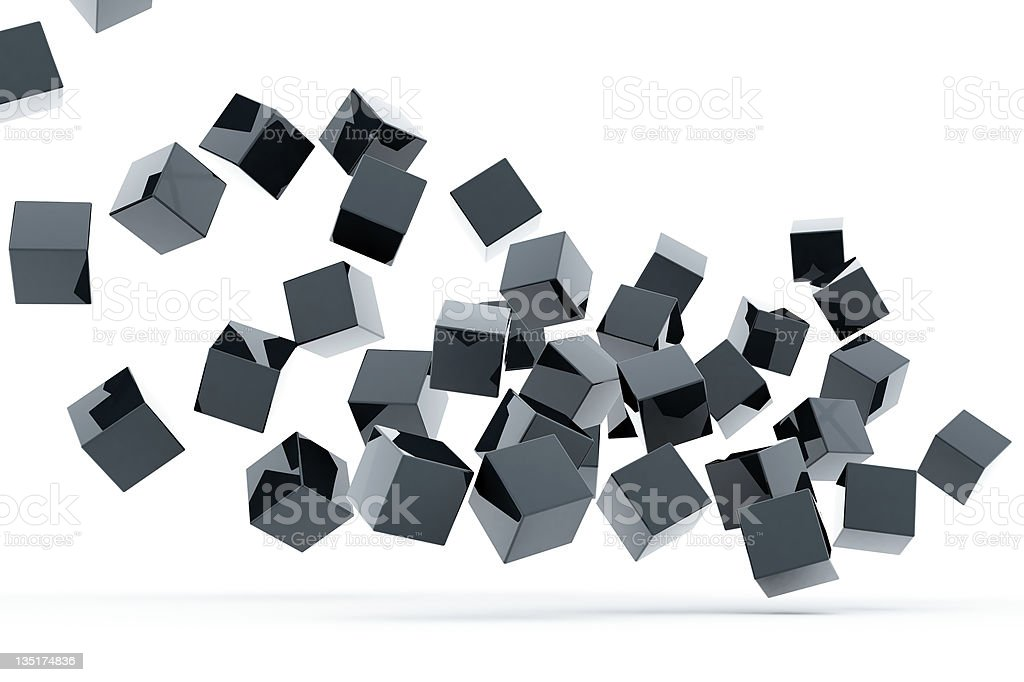 metallic cubes royalty-free stock photo