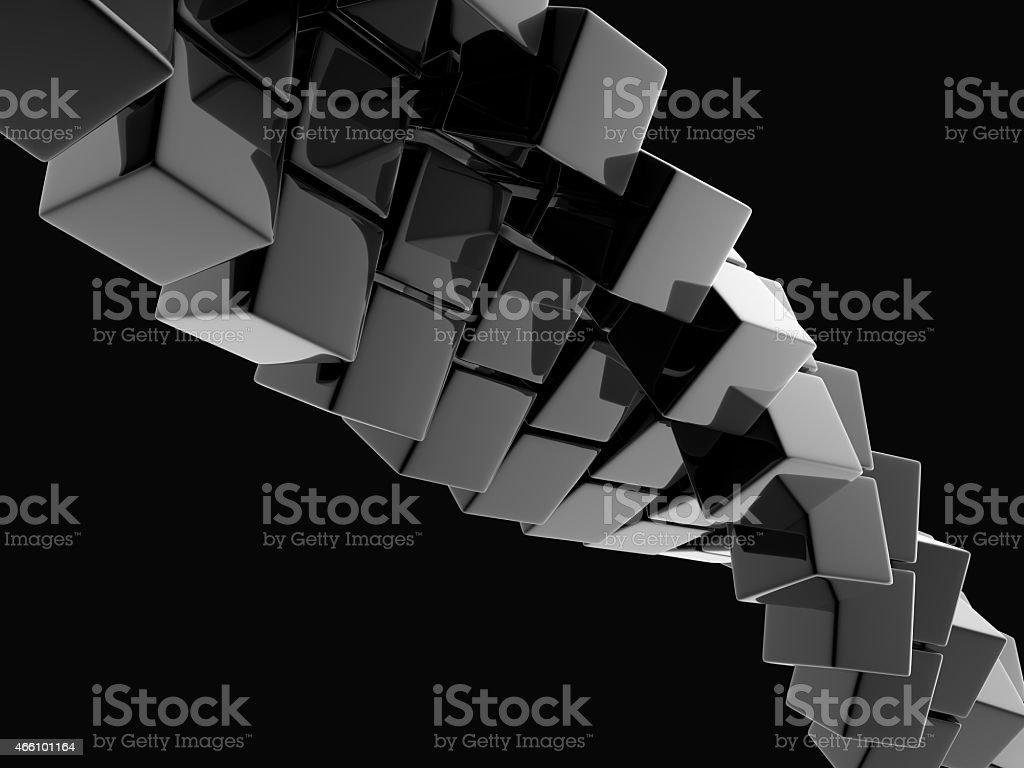 metallic cubes stock photo