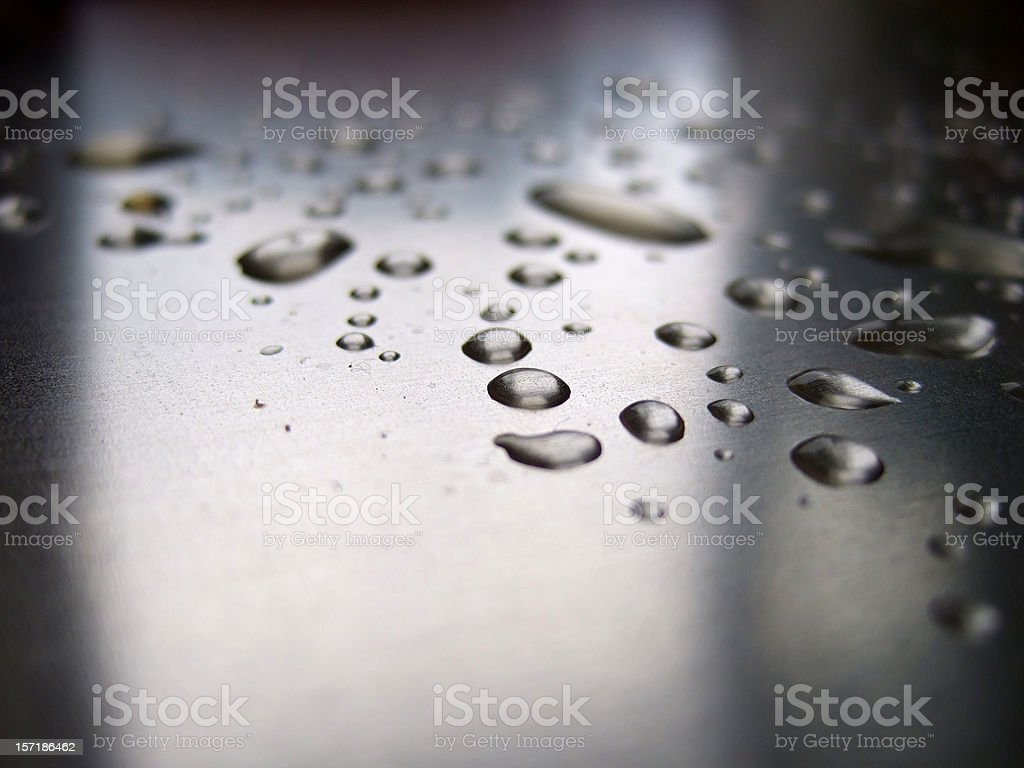metallic drops stock photo