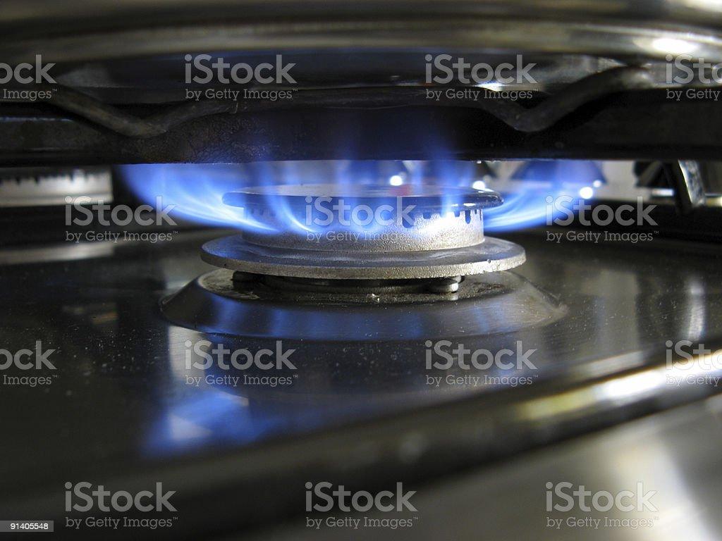 Metallic Flames royalty-free stock photo