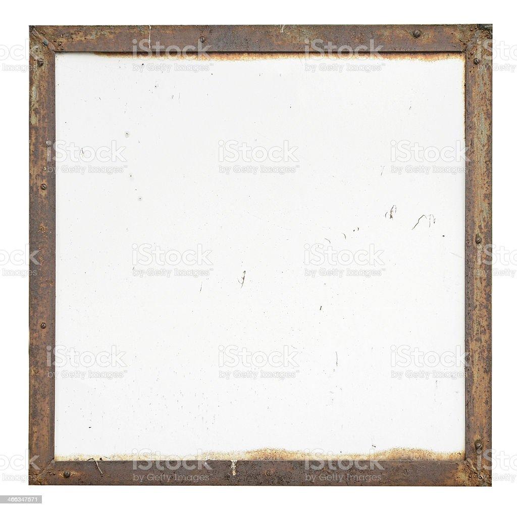 Metallic frame. Texture or background. stock photo
