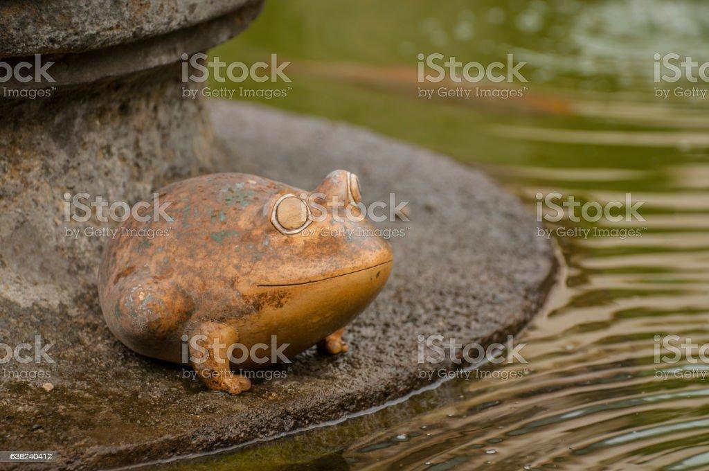 Metallic frog stock photo