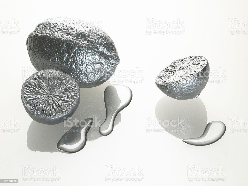 metallic fruits  (  I  ) stock photo