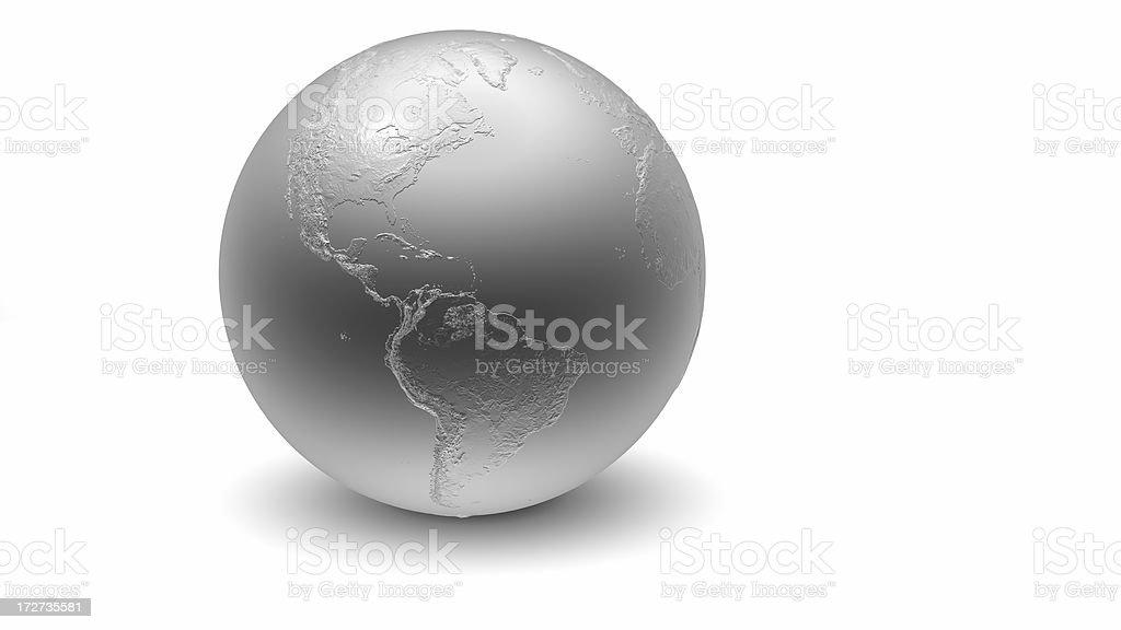 Metallic Globe: Americas royalty-free stock photo