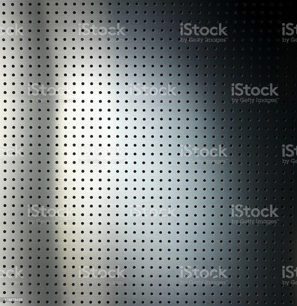 Metallic grid plate royalty-free stock photo