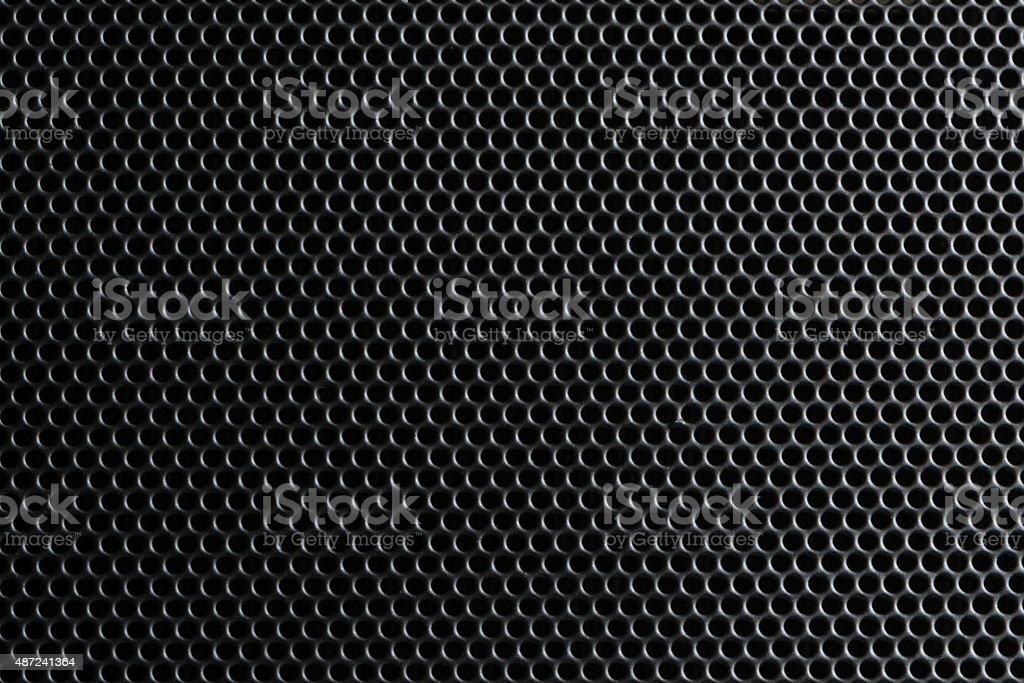Metallic grille stock photo