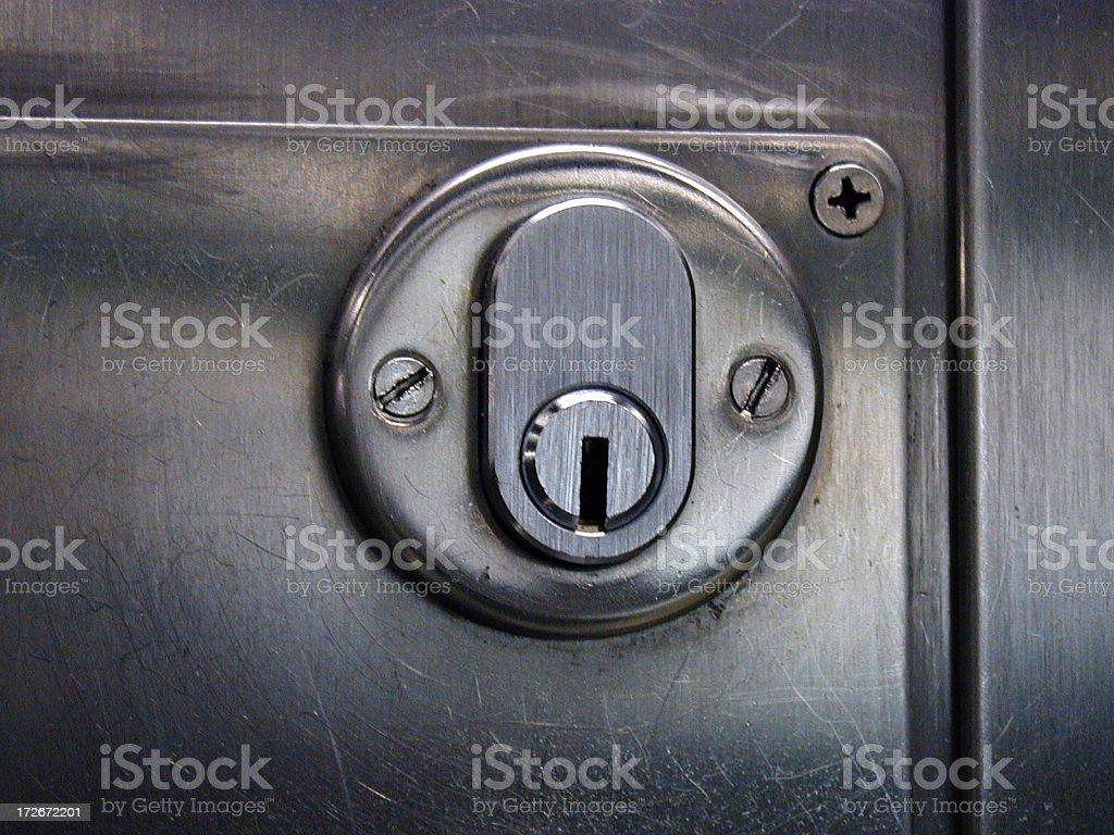 Metallic Keyhole stock photo