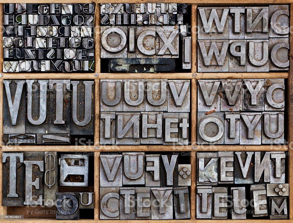 Metallic Letterpress royalty-free stock photo