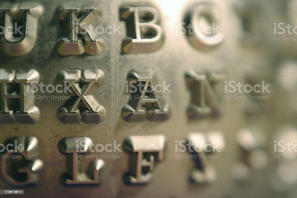 metallic letters royalty-free stock photo