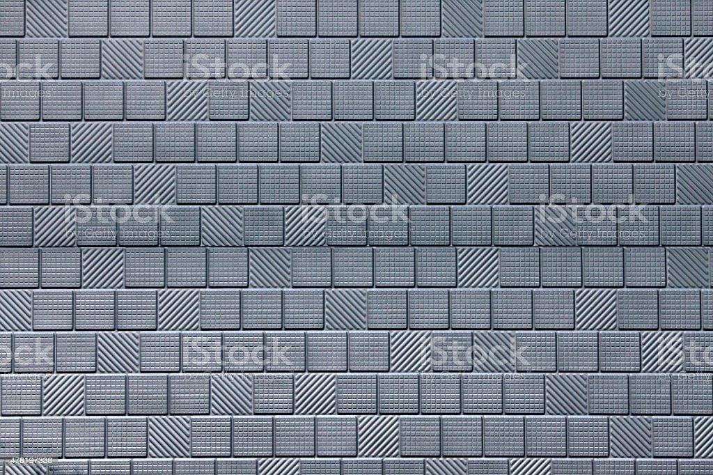 Metallic luster grey tile texture stock photo