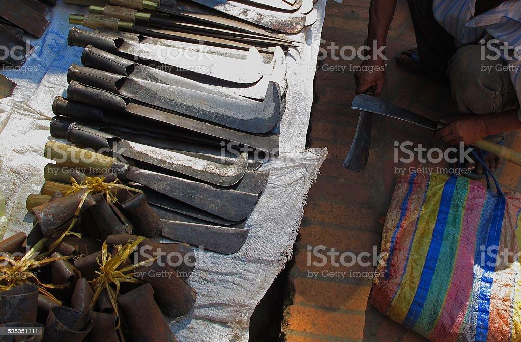 Metallic Market stock photo