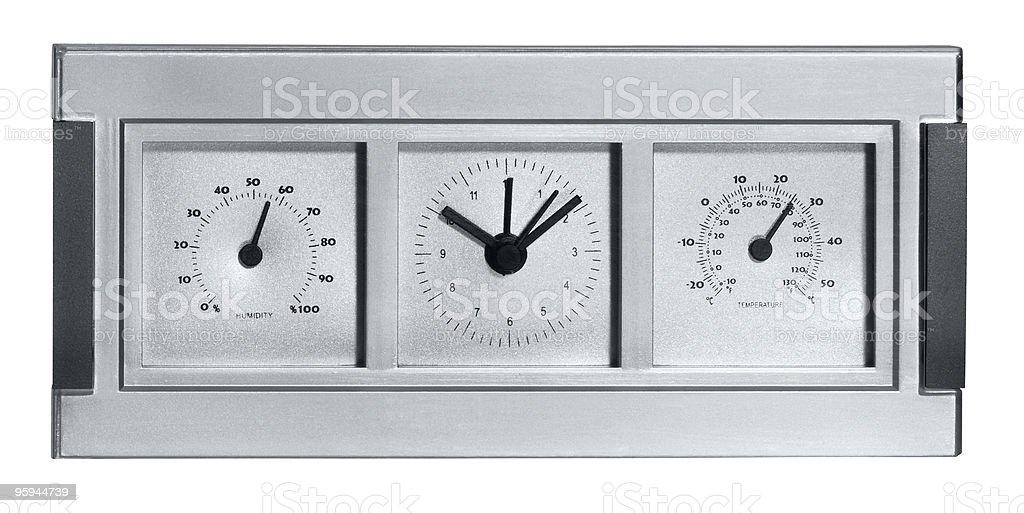 metallic meteorological station royalty-free stock photo