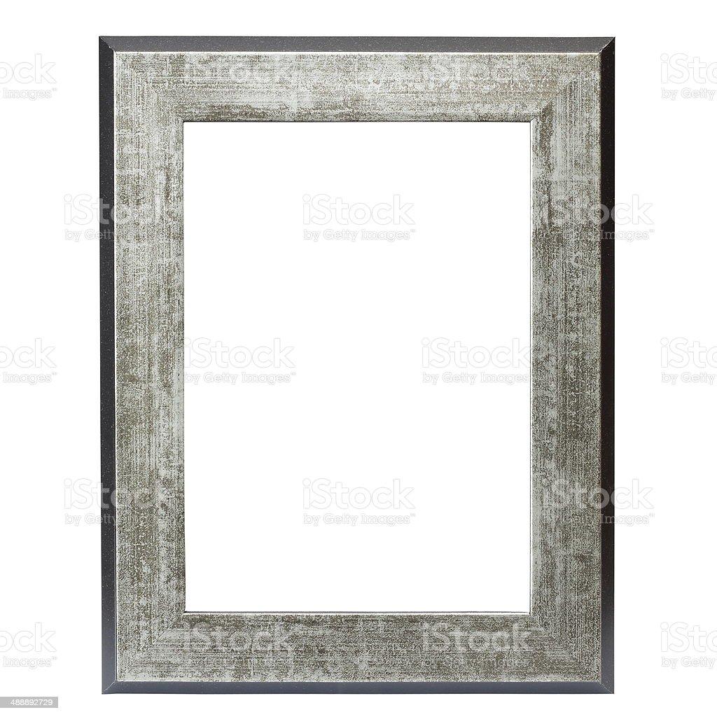 metallic picture frame stock photo