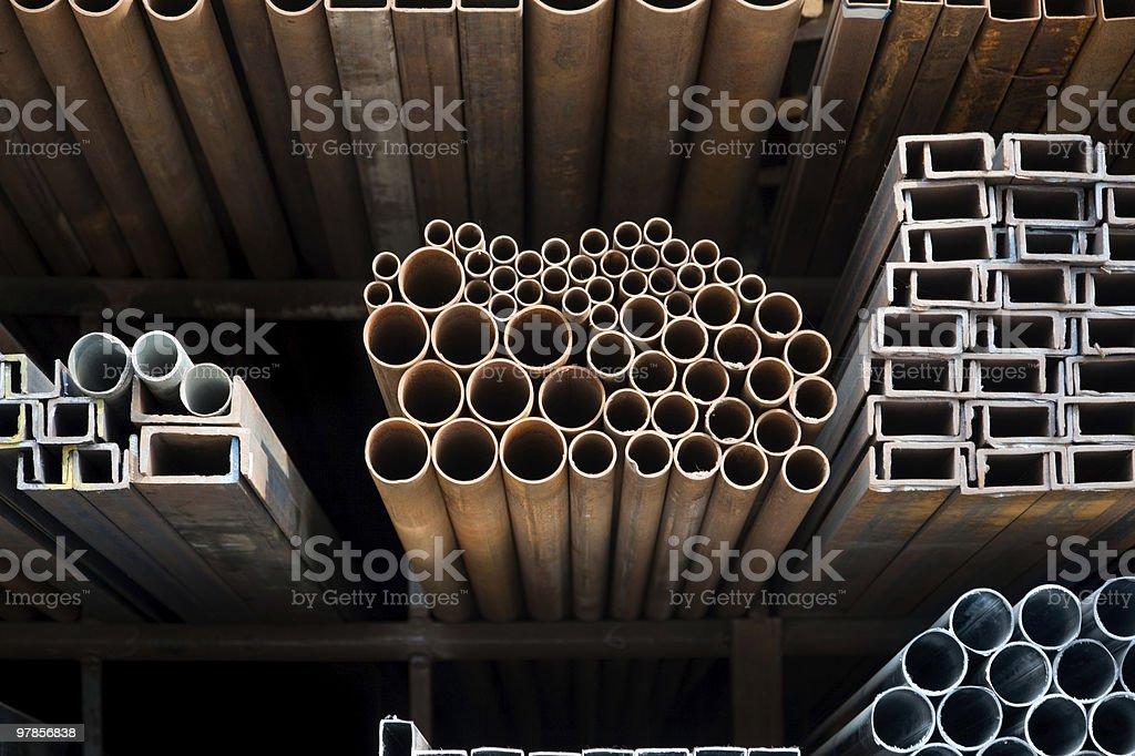 Metallic pipes royalty-free stock photo