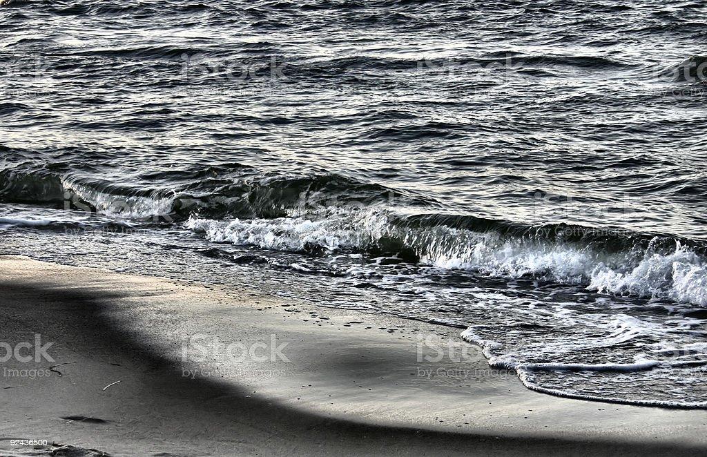 metallic sea royalty-free stock photo