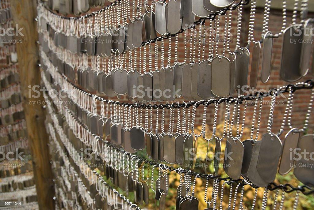 Hojas metálicas - foto de stock