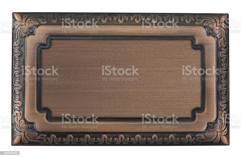 Metallic sign plate royalty-free stock photo