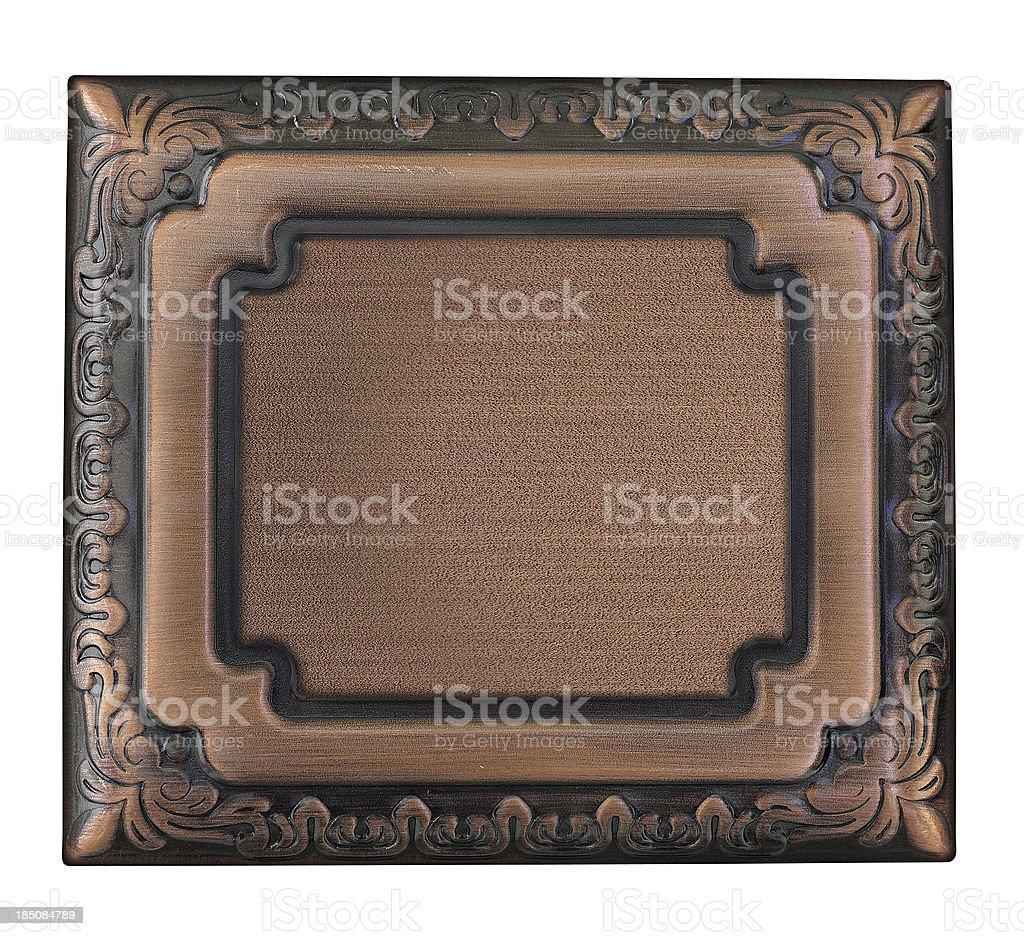 Metallic sign plate royalty-free stock photo