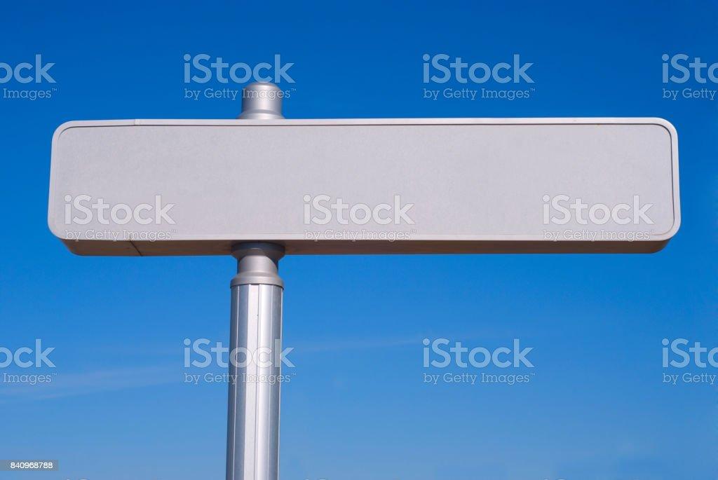 Metallic signpost stock photo