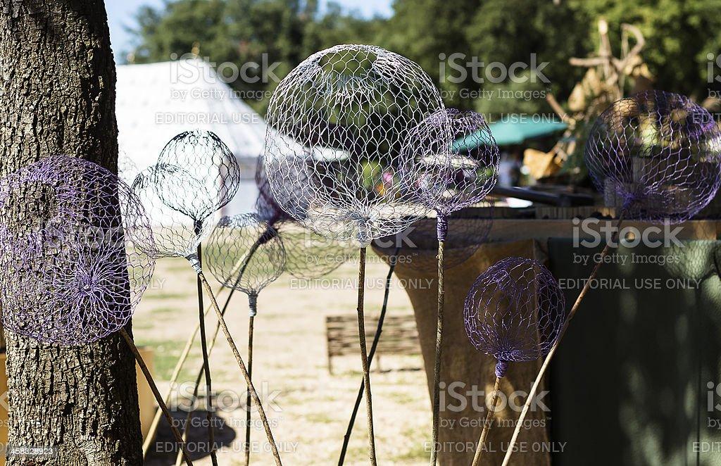 Metallic sphere stock photo
