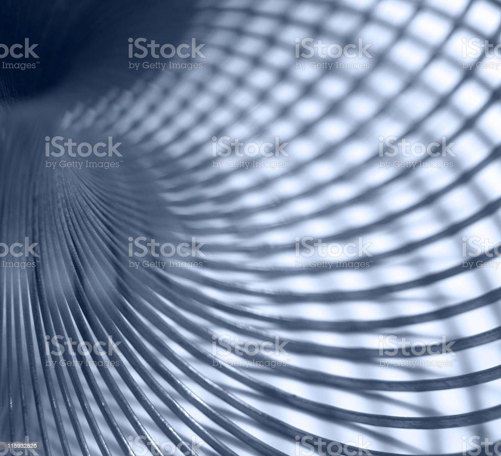 metallic spiral abstract stock photo