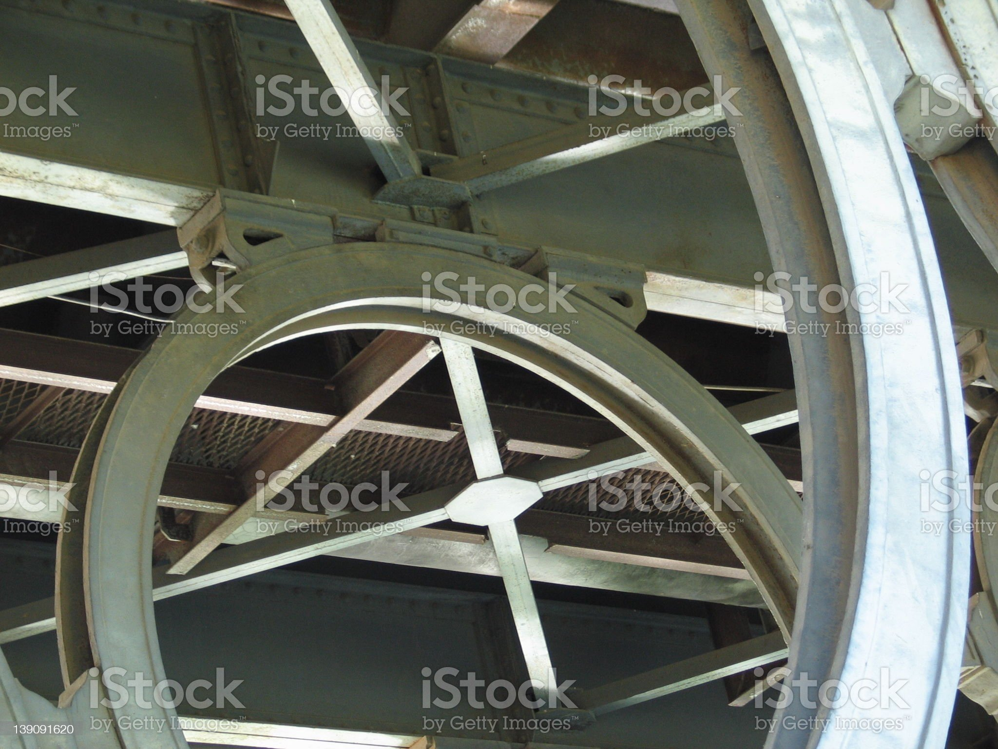 metallic structure royalty-free stock photo