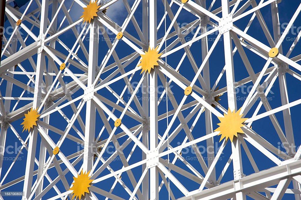 Metallic structure royalty-free stock photo